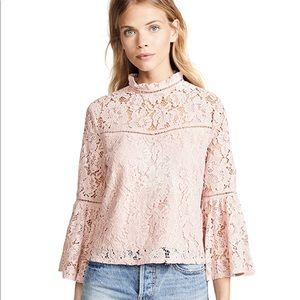 BNWOT Jack by BB Dakota Floral Lace Bell Slv Top